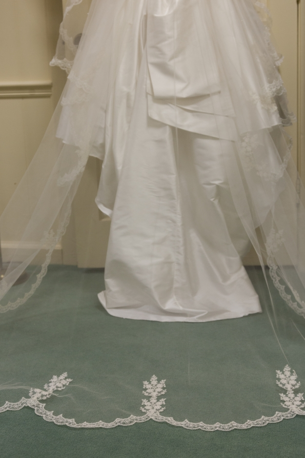 My wedding dress and veil (which was my mother's)